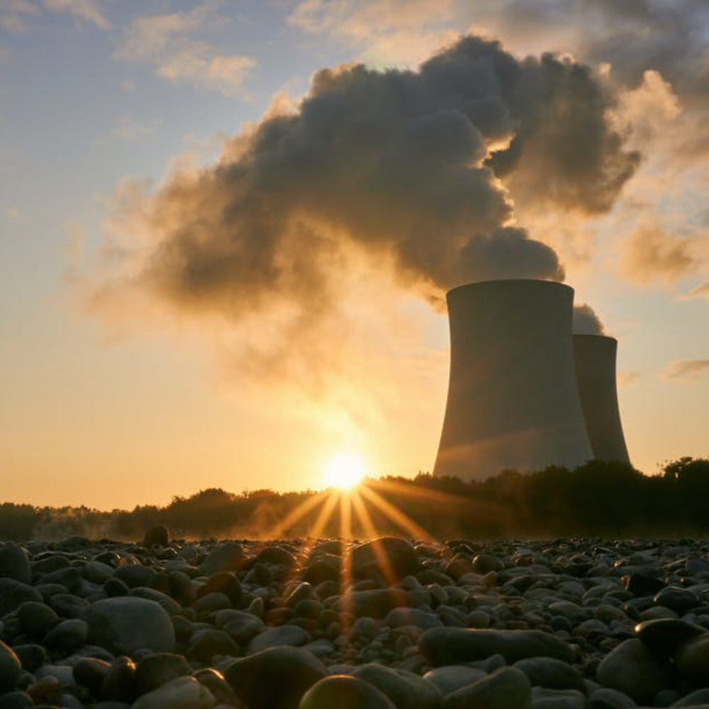 Sunlight with Commercial Nuclear Power Plant
